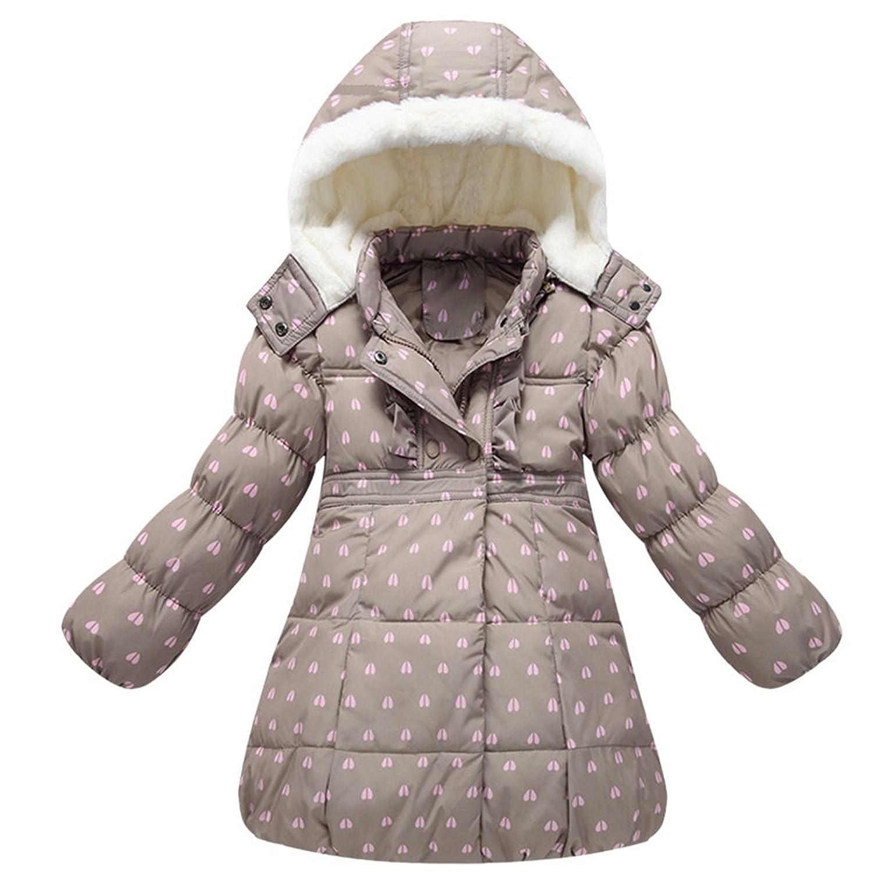 iikids Daunenjacke Kinder Mädchen Winterjacke mit Kapuze Verdickung Jacket Wintermantel Mantel Parka Outerwear Oberbekleidung Winter Kleidung günstig online kaufen