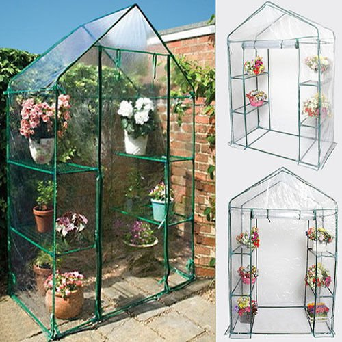 Portable 4 Shelves Walk In Greenhouse Outdoor 3 Tier Green House New (Automatic Mister Terrarium compare prices)