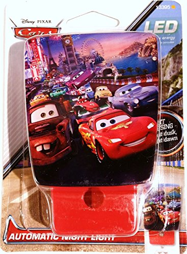 Disney Pixar Cars Automatic LED Night Light (Disney Cars Wall Lamp compare prices)