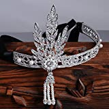 Good-Quality-Luxury-Silver-tone-the-Great-Gatsby-Inspired-Art-Deco-Wedding-Tiara-Headpiece-Headband-Black-Ribbon
