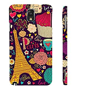 Samsung Galaxy Note 3 Lite SWEET LOVE IN PARIS designer mobile hard shell case by Enthopia