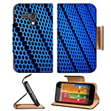 Luxlady Premium Motorola G 1st Generation Flip Case abstract metal grid background IMAGE 19337794 Pu Leather Card Holder Carrying