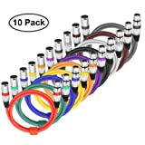 XLR To XLR Mic Audio Cable Colors Balanced Microphone Snake Cable for Stage/Studio 6.5Feet/2Meters