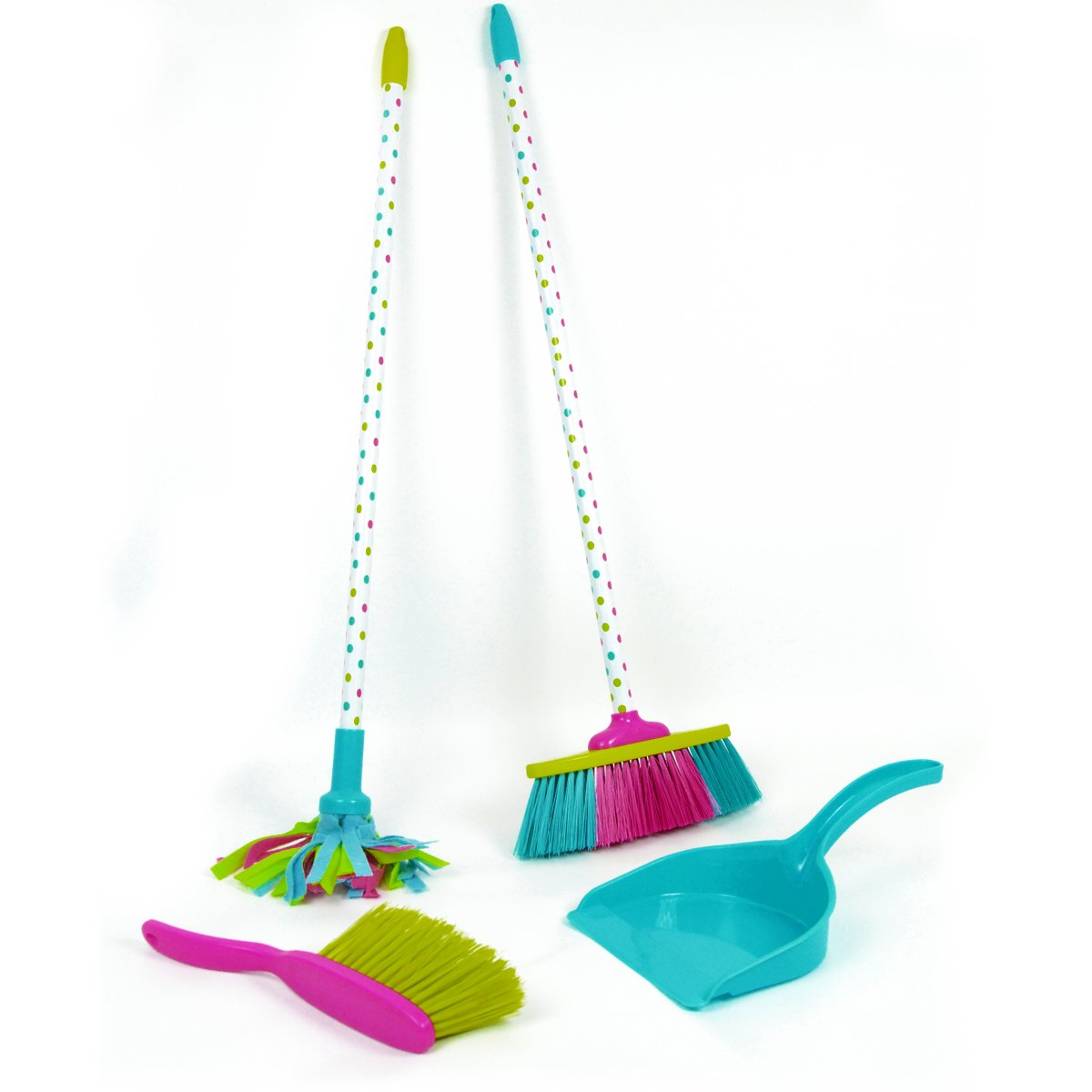 Kids Cleaning Set Includes Broom Mop Dustpan And