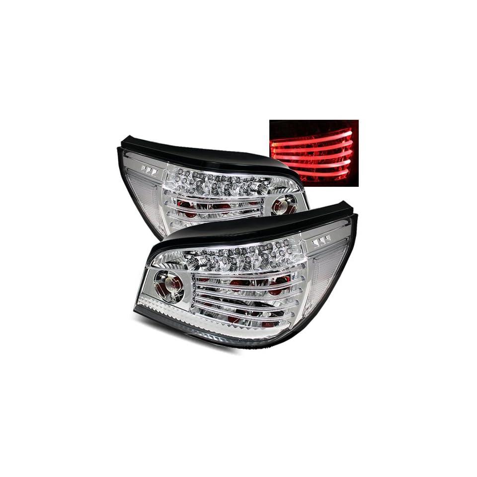 04 07 BMW E60 5 Series Chrome LED Tail Lights