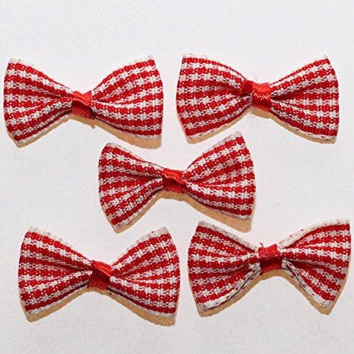20-x-noeuds-en-ruban-vichy-petits-carreaux-pour-scrapbooking-couture-deco-rouge