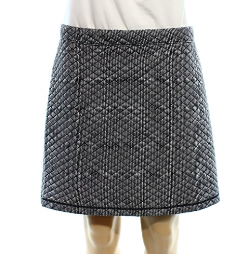 Studio M White Printed Quilted Women's Pull-On Mini Skirt Black XL (Womens Quilted Mini Skirt compare prices)