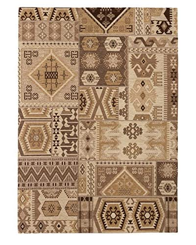 Portico Rug, Brown/Cream, 5' 3 x 7' 7