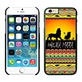 iPhone Cases,6 iphone case colors,cool iphone cases, cute iphone cases, Hakuna Matata on Sunset Lion King Iphone 6 (4.7-inch) Cases Black Cover
