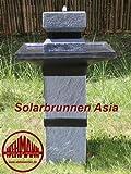 Solarbrunnen Asia Solarspringbrunnen Zengarten Brunnen Komplettset für Garten und Terrasse