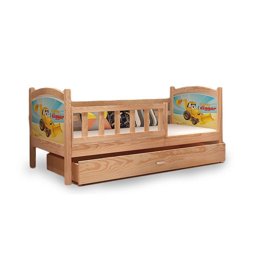 Kinder Bett Einzelbett Kinderbett Kinderzimmerbett TAMI P Kiefer Bagger neu