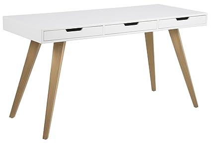 PKline Schreibtisch Eiche/weiß