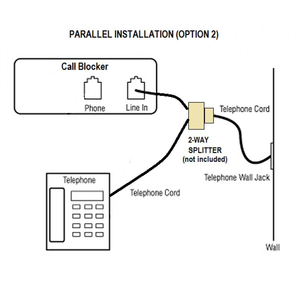 T Lock Call Blocker Version N2 Block Robocalls Telemarketers And 2 Line Phone Telephone Splitter Wiring Diagram 61ftwvsapdl Sl1000