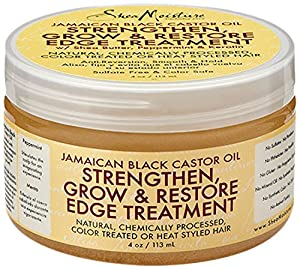 SheaMoisture Jamaican Black Castor Oil Strengthen, Grow & Restore Edge Treatment, 4 Ounce