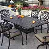 Darlee Santa Monica 6-person Cast Aluminum Patio Dining Set – Antique Bronze