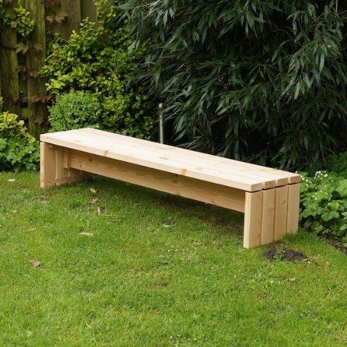 binnen-markt Lounge Bank Heimisches Holz Douglasie 180 x 40 cm Natur günstig online kaufen
