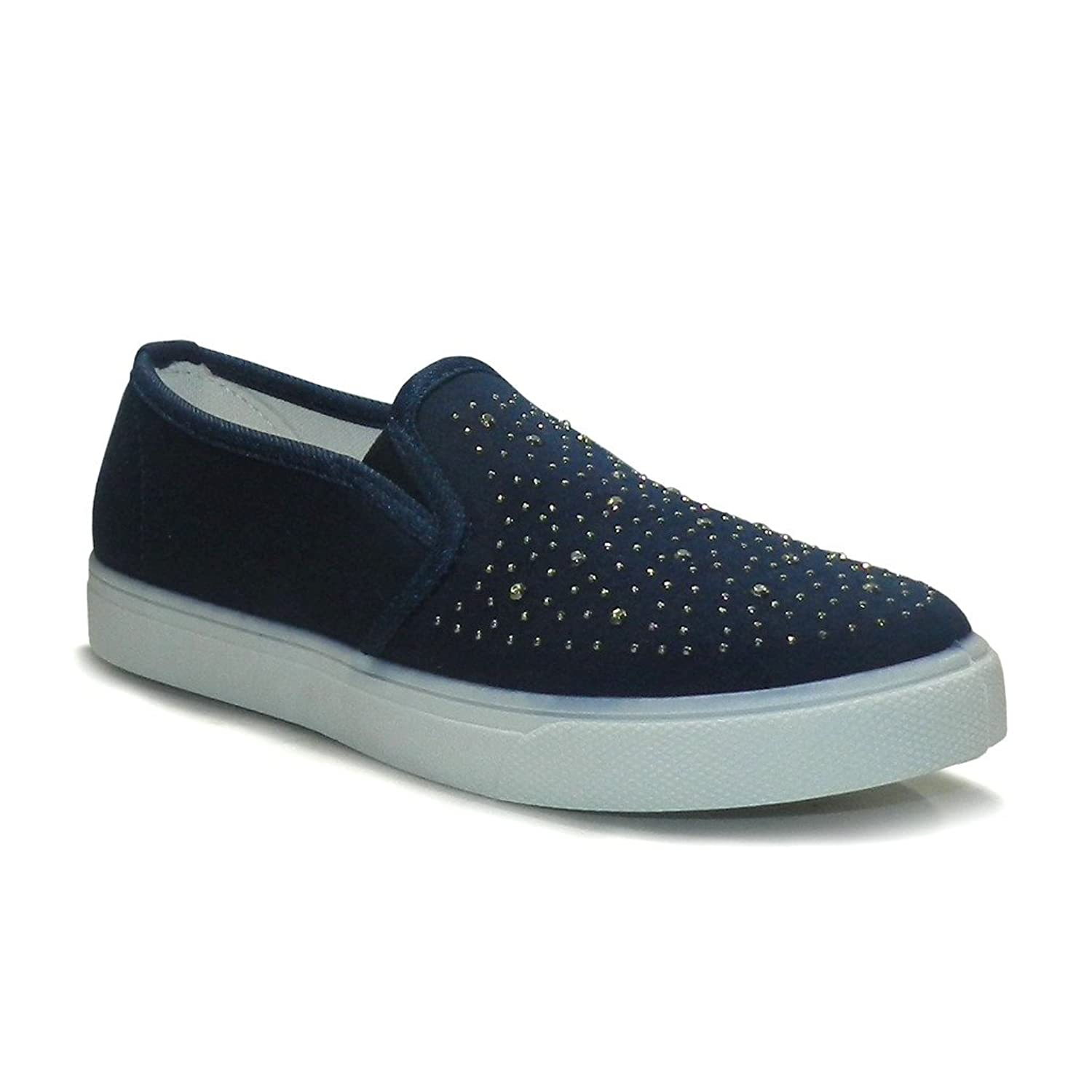 Sirouskee Studded Navy Color Stylish Women Casual Shoes