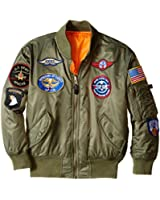 Alpha Industries Big Boys' MA-1 Bomber Jacket with Patches