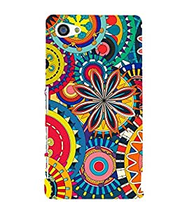 Animation Pattern little and Big Circle 3D Hard Polycarbonate Designer Back Case Cover for Sony Xperia Z5 Compact :: Sony Xperia Z5 Mini
