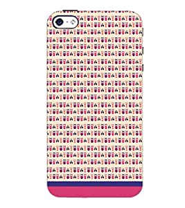 PrintDhaba Owl Pattern D-1667 Back Case Cover for APPLE IPHONE 5S (Multi-Coloured)