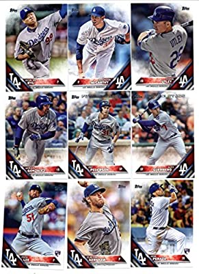2016 Topps Baseball Series 1 Los Angeles Dodgers Team Set of 17 Cards: Andre Ethier(#11), Clayton Kershaw(#24), Zack Greinke(#32), Corey Seager(#85), Yasmani Grandal(#91), Justin Turner(#101), J.P. Howell(#123), Zach Lee(#127), Yasiel Puig(#139), Clayton