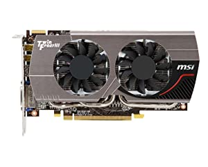 MSI R7850 Twin Frozr OC AMD Radeon HD 7850 2GB GDDR5 DVI/HDMI/2xMiniDisplayPort PCI-Express Video Card R7850 TWIN FROZR 2GD5/OC