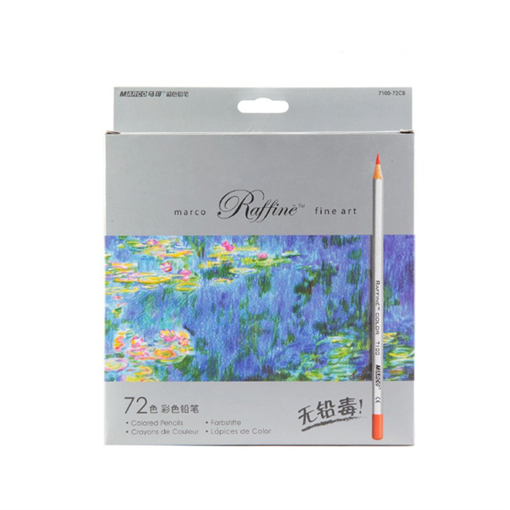72-color Raffine Marco Fine Art Colored Pencils/ Drawing Pencils for Sketch/ Secret Garden Coloring Book (Not Included)