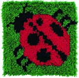 Caron Natura Latch Hook Rug Kit - Ladybug