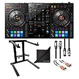 Pioneer DJ DDJ-800 2-Channel Rekordbox DJ Controller w/AxcessAbles Laptop Stand, XLR Audio Cable, Hosa RCA Cable and eStudioStar Polishing Cloth