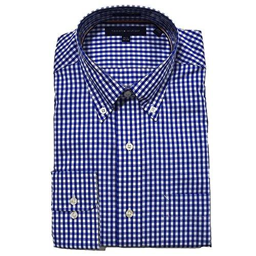 tommy-hilfiger-mens-regular-fit-buttondown-dress-shirt-165-34-35-blueberry
