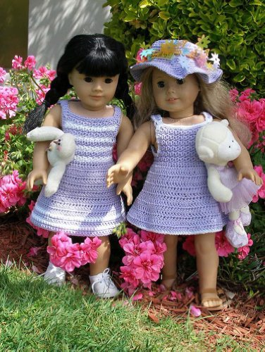 Garden Party Crocheting Pattern for 18 inch dolls