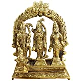 "RoyaltyLane Ram Darbar Statue - Lord Rama Laxman And Sita Religious Indian Art Statue - 4.6"" X 3.8"" X 1.5"""