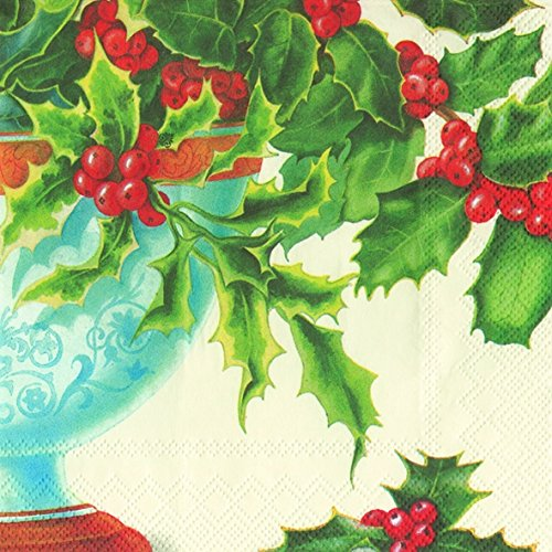 holly-bowl-cream-christmas-ihr-luxury-traditional-paper-table-napkins-20-in-pack