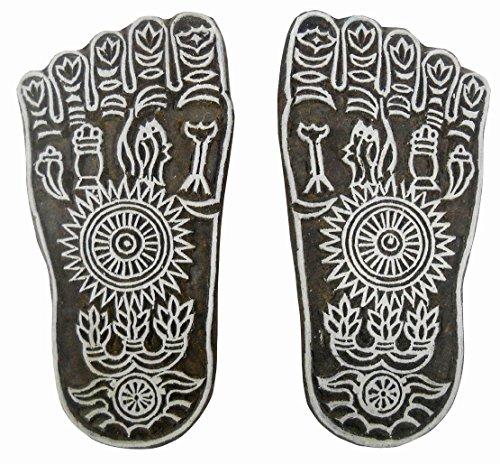 auspicious-sacred-goddess-lakshmi-piedi-in-legno-motivo-timbro-tattoo-blocco-per-stampa-su-tessuto