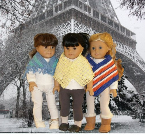 Crocheted Shawls Pattern for 18 Inch Dolls