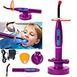 APHRODITE US WAREHOUSE Wireless Cordless Big Power LED Light with Charging 1500mw Whitening Tip Purple By East