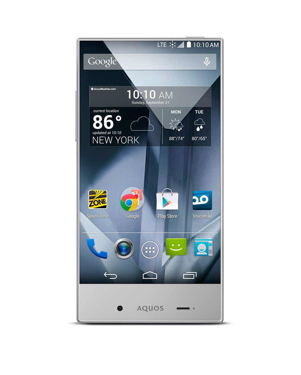 Sharp-Aquos-Crystal-Silver-No-Contract-Phone-Sprint-Prepaid-