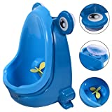 Cute Frog Potty Training Urinal For Boys Kids With Funny Aiming Target 2 color - Blue