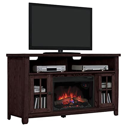 """ClassicFlame 26MM9740-O128 Dakota TV Stand for TVs up to 65"""", Carmel Oak (Electric Fireplace Insert sold separately)"""