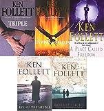 KEN FOLLETT KEN FOLLETT 5 BOOK SET COLLECTION TRIPLE ON WINGS OF EAGLES A PLACE CALLED FREEDOM EYE OF THE NEEDLE HORNET FLIGHT