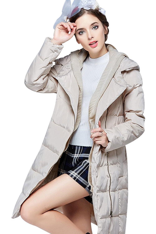 Voguees Damen Warm Mantel Winterbekleidung Weit Geschnitten