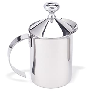 HIC Stainless Steel No Electricity Milk Frother width=