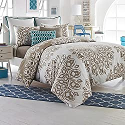 250TC 100% Cotton Studio 3B Reversible Duvet Cover Set (Full/Queen, Cyndi) by Keeco