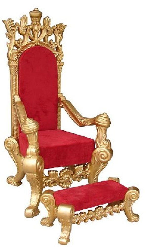 Golden Santa Chair and Foot Rest