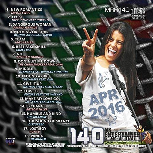 Mr Entertainer Karaoke MRH140 Chart Hits Vol 140 April 2016