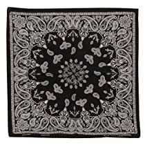 Black New Paisley Bandanas