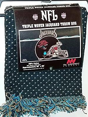 """NFL Throw Rug, """"Jacksonville Jaguars"""" NEW"""