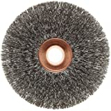 Weiler Copper Center Wire Wheel Brush, Round Hole, Steel, Crimped Wire