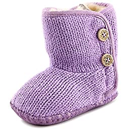 UGG Kids Baby Girl\'s Purl (Infant/Toddler) Lilac Boot SM (US 2-3 Infant) M