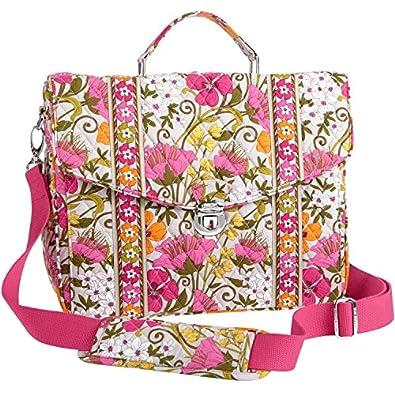 vera bradley attache in tea garden handbags